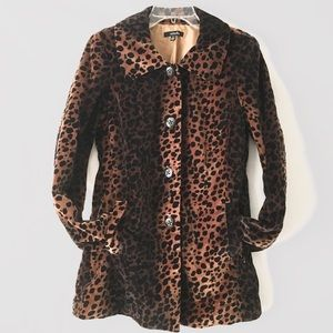 Leopard Print Button Up Fall Jacket